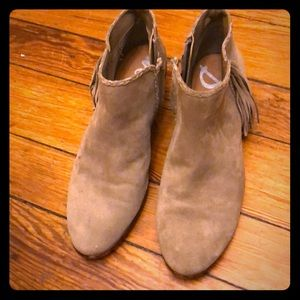 Gray suede Sam Edelman booties
